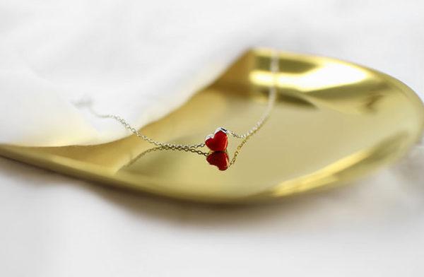 Bracelet - Adley - Wild red drop glaze heart
