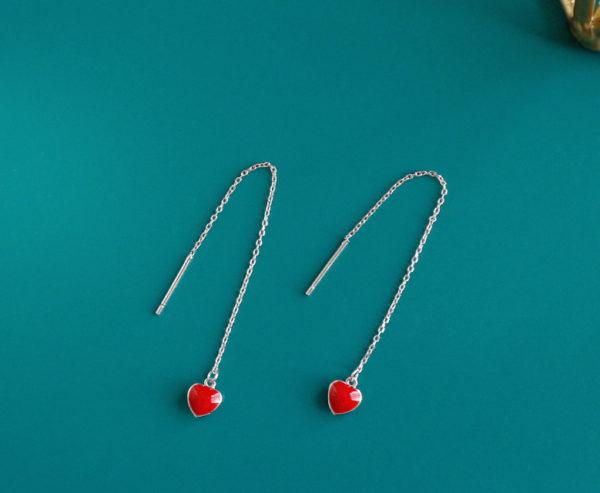 Earrings - 925 silver wild heart drop - Adley3