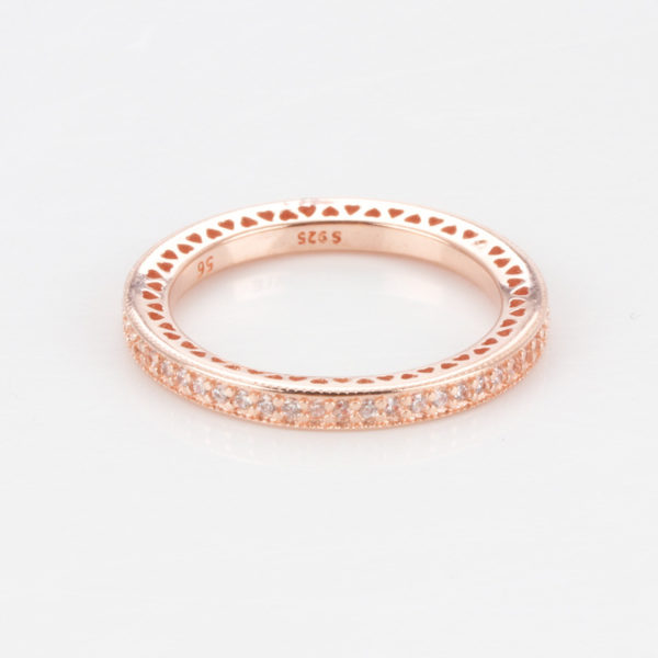Ring - Delilah - Rose gold plated 925 silver