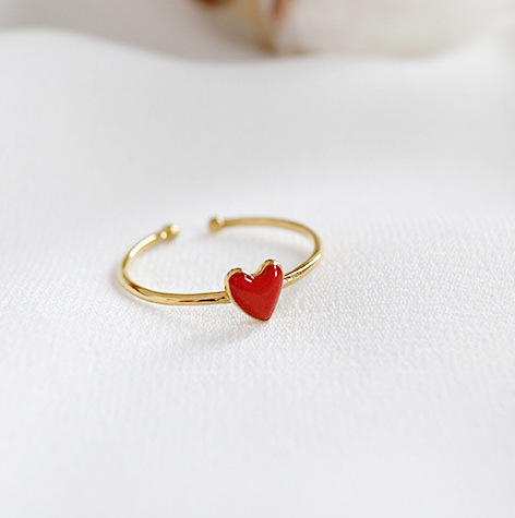 Signature line - ring -18k Gold Plated 925 STerling SIlver - Scarlett