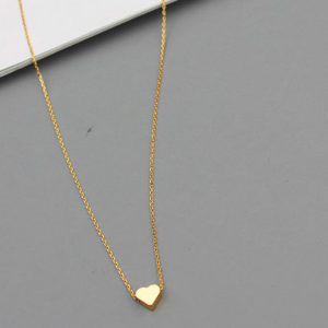 necklace - 18k gold plated - heart - Jasmine